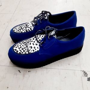 QUPID Leopard Suede Two Tone Loafer Sneaker NWOT